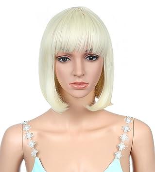 Amazon.com: Louise Maelys recto corto peluca Bob pelo de ...