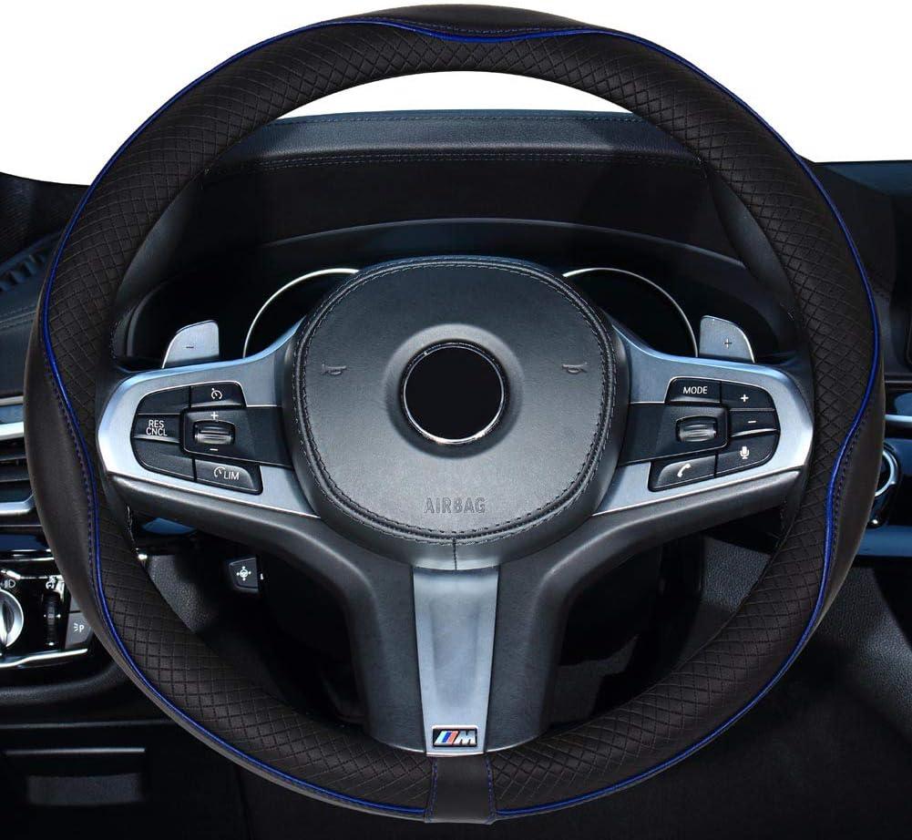 Green Xihaoer Cute Genuine Leather Steering Wheel Cover