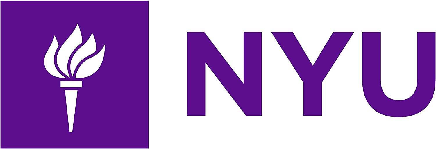 NYU Liberty Torch Logo (Horizontal) - Vinyl - 7 Inches (Color: Purple) Decal Laptop Tablet Skateboard Car Windows Stickers