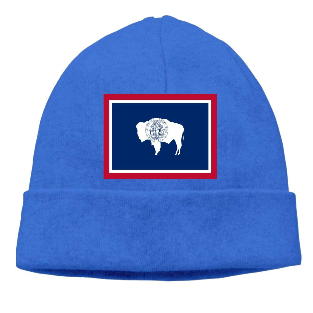 Amazon com: CHAN03 Wyoming State Flag Beanies Hats Unisex