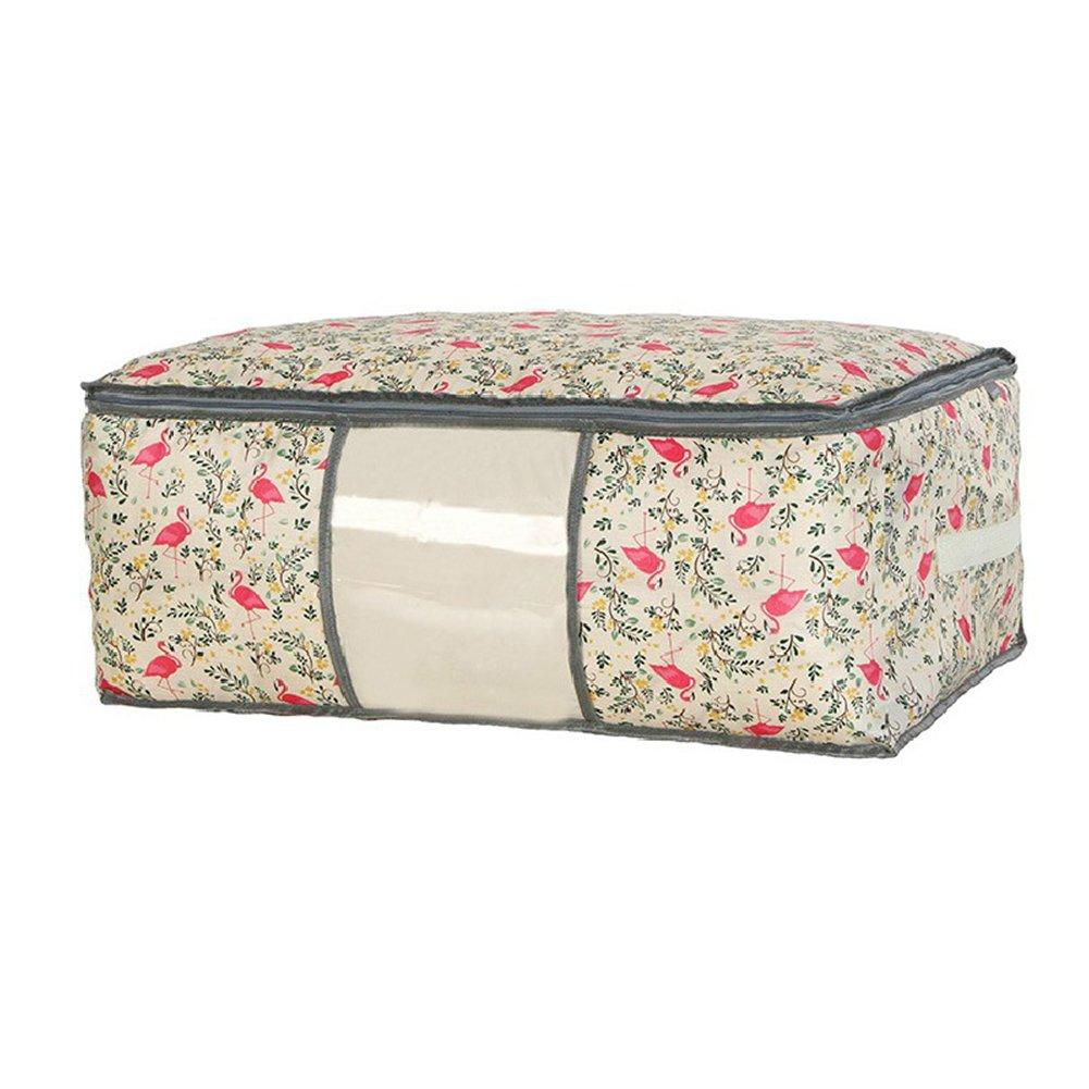 39 22cm Vi.yo Aufbewahrungstasche Unterbett Unterbettkommode mit Sichtfenster Ideal f/ür Mehrere Bettdecken Kissen Kleidung Beige 57