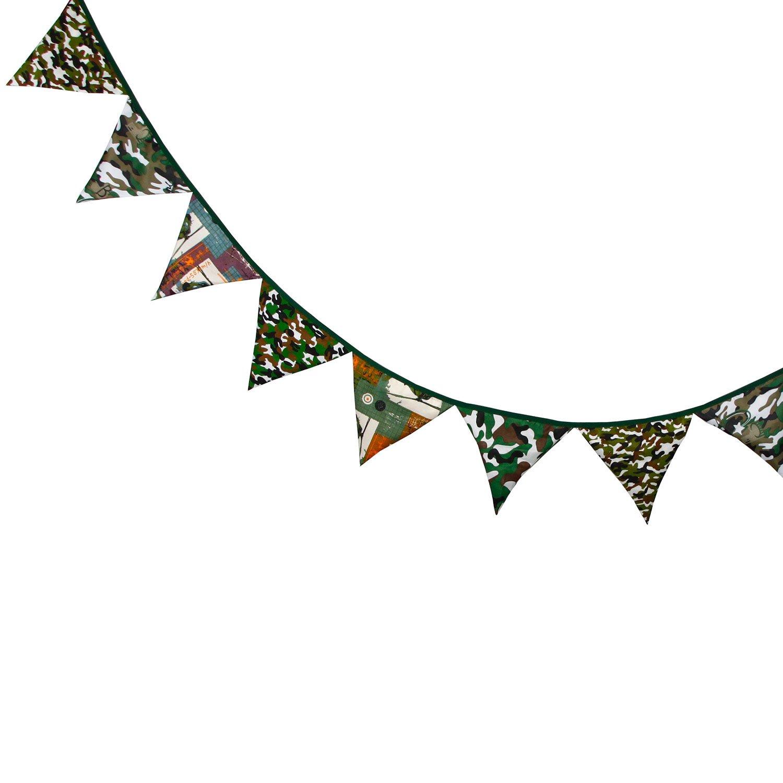 3,3 m Hermosa Dibujos Animados Patr/ón de Tela de Algod/ón 12 Banderas Tri/ángulo Doble Cara Bander/ín Bandera Para La Boda Fiesta de Cumplea/ños Decoraciones Guirnaldas
