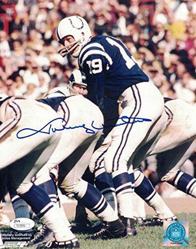 Johnny Unitas Autographed Picture - 8x10 21266 - JSA Certified - Autographed NFL - Unitas Johnny Autograph
