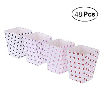 NUOLUX 48pcs Popcorn Boxes Cajas de Palomitas envases Cajas ...