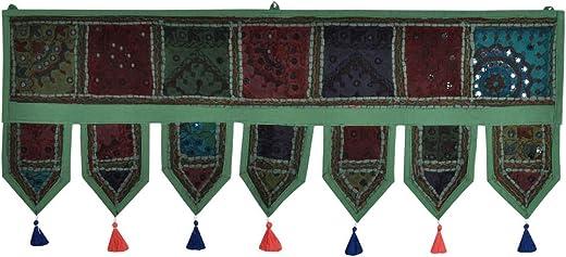 Lalhaveli Decorative Patchwork Wall Hanging Windows Door Hanging Room D cor 39 x 16 Inch
