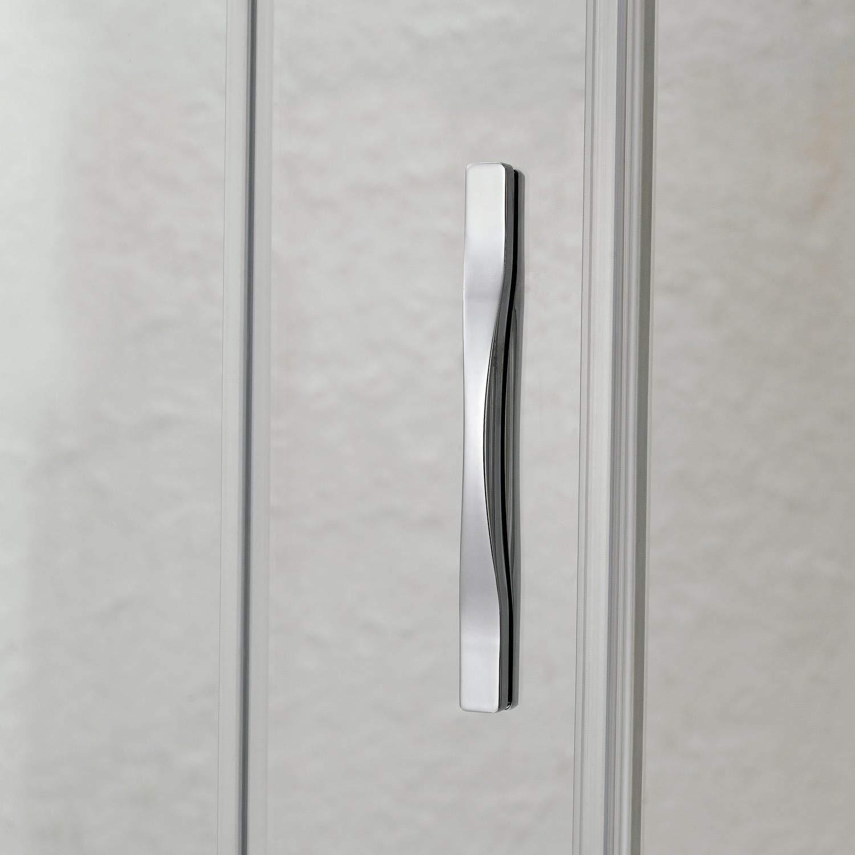 Porta Parete Doccia 140 cm 1 Anta Scorrevole in Cristallo Trasparente 6mm H198 Fosterberg Viborg