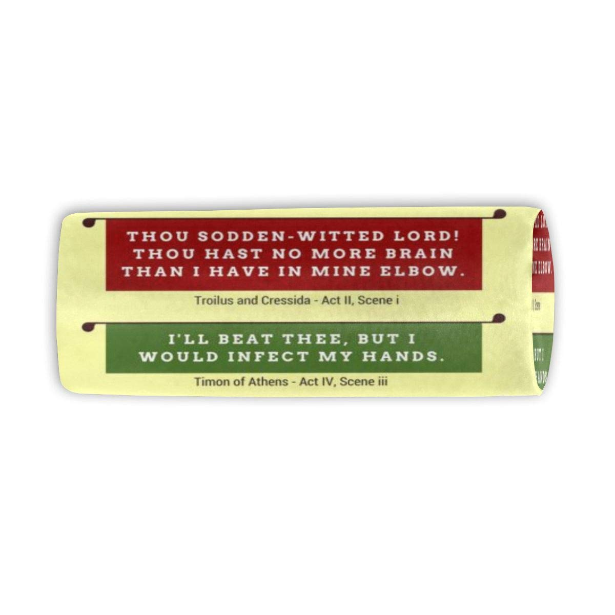 Makeup Brush Cylinder Cosmetic Case Shakespeare's Insults Repertory Travel Organizer Pencil Case