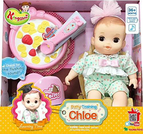 English Package Kongsuni Series Potty Traning Chloe Doll Baby Doll Playset Toy For Potty Traning Doll For Roleplay