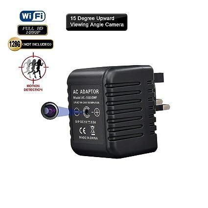 FREDI USB Wall Charger Hidden Spy Camera US//EU Plug Adapter HD 1080P Camera