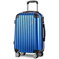 "Wanderlite 28"" Luggage Suitcase Blue Set TSA Travel Hard Case Lightweight Blue"