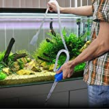 HDE Aquarium Cleaner Gravel Vacuum Fish Tank Siphon Pump for Changing Water