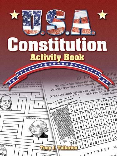 USA Constitution Activity Book Dover Children#039s Activity Books