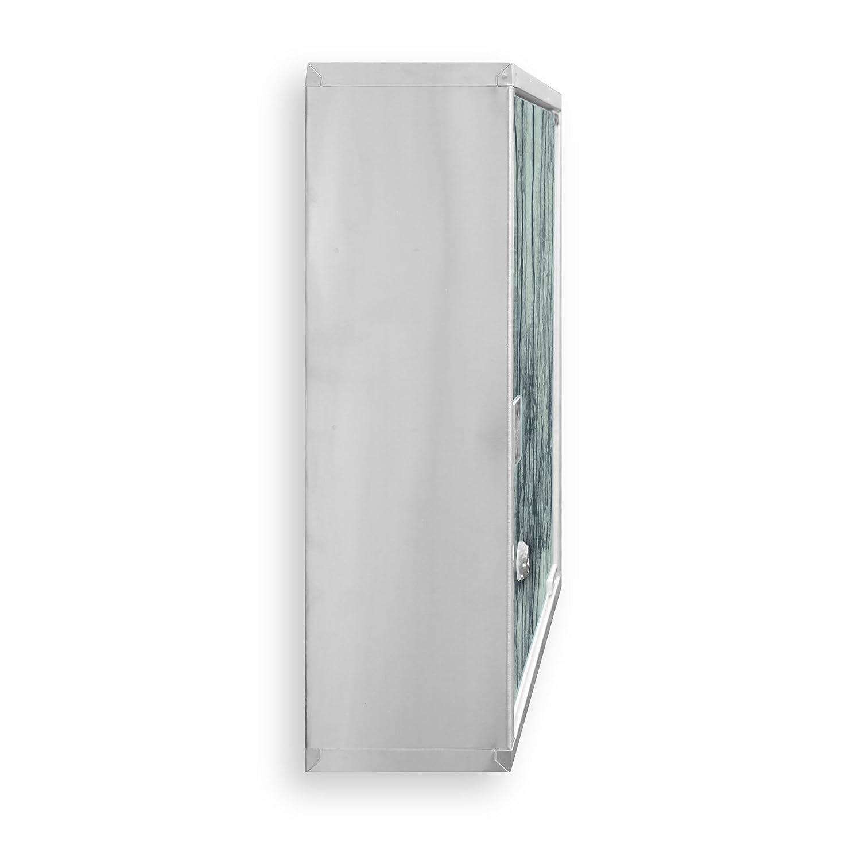 Medizinschrank groß Edelstahl abschließbar 30x45x12cm ...