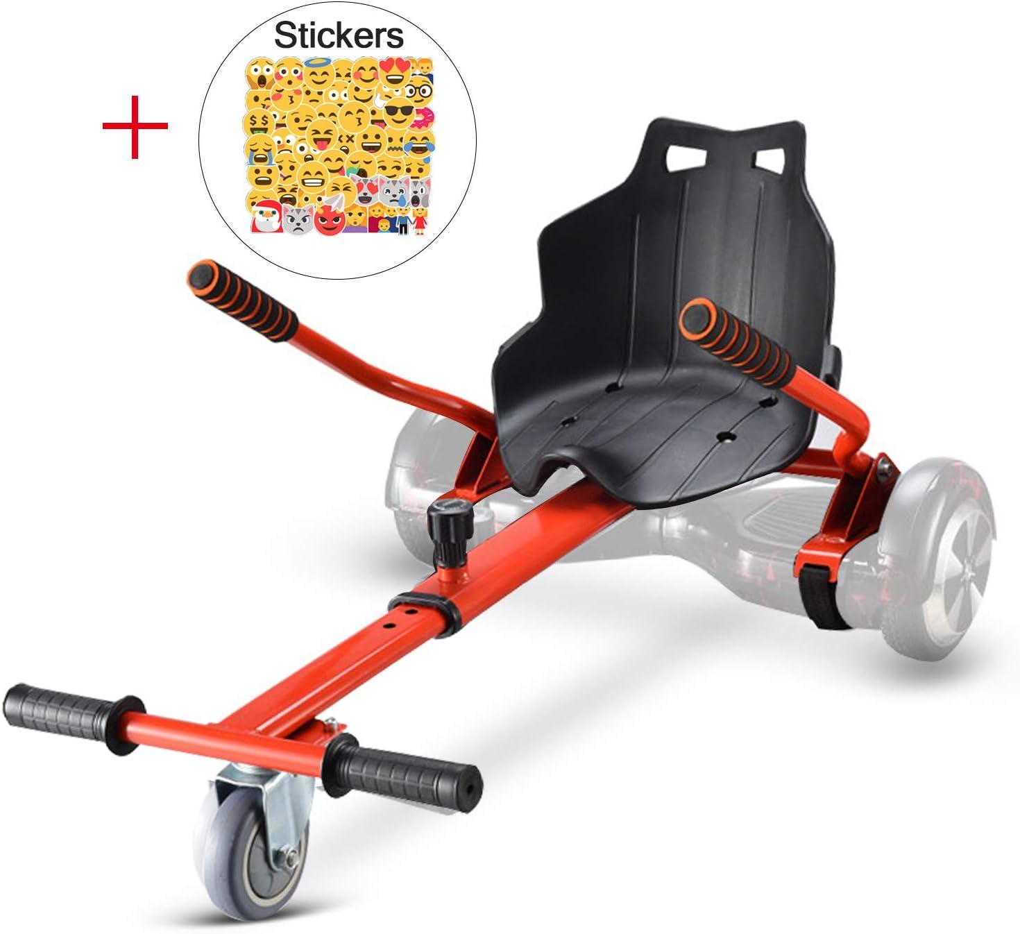 LOVESPORT Hoverboards Silla Hoverboard Asiento Kart Electrico Patinete electrico con Asiento hoverkart (Rojo): Amazon.es: Deportes y aire libre