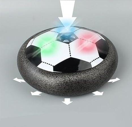 Juguete Balón de Fútbol Flotante, Pelota con Suspensión de Aire y Luces LED para Jugar Fútbol en Casa sin Riesgo a Romper Nada (Negro): Amazon.es: Juguetes ...