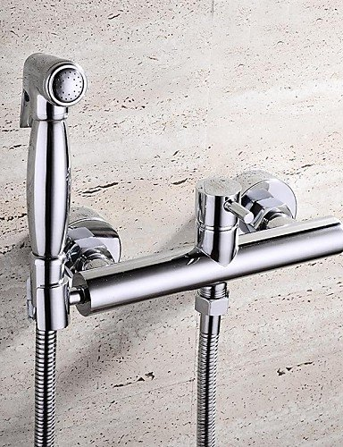 Royal-HPB Contemporary Chrome Finish Brass Bidet Faucet by Contemporary Bathroom Sink Faucet