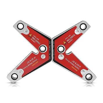 2pcs Welding Corner Magnet Holder Dual-Use 60 /& 90 Degree Welding Magnetic Holder