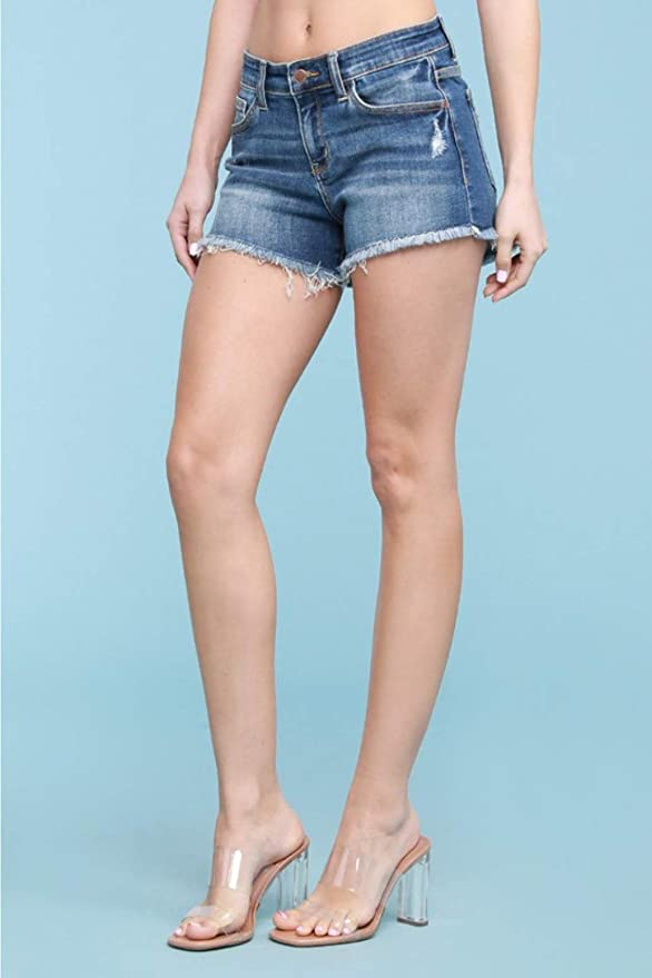 Judy Blue Cut-Off Lightly Distressed Shorts Style: 182137