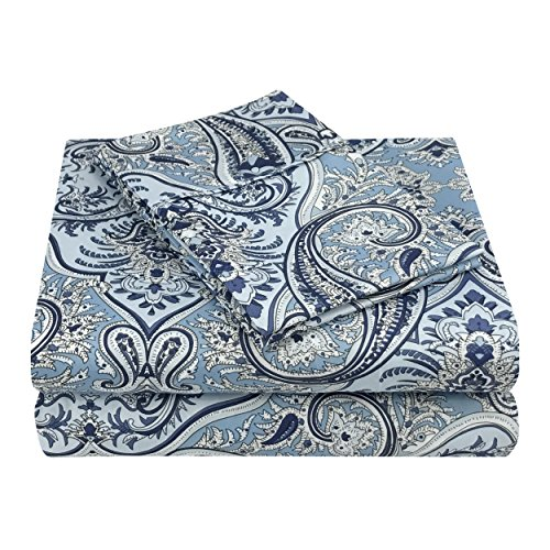 Superior Luxury Paisley Bedding, 100% Brushed Microfiber 4-P