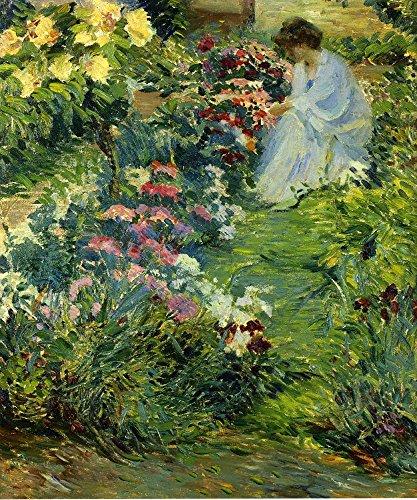 Woman in a Garden by John Leslie Breck - 20