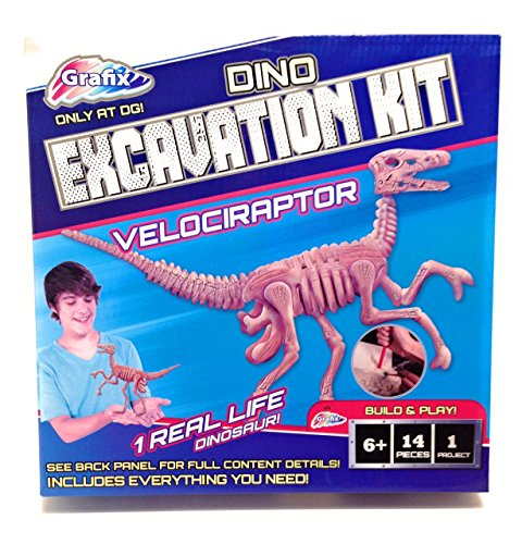 Dinosaur Velociraptor Childrens Excavation Kit