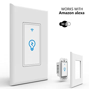 Joso Smart Light Switch, Wi-Fi Remote Timing Control with Smartphone In-Wall