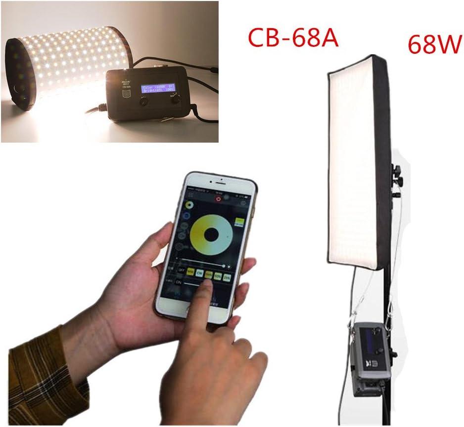 Menik CB-68A 68W 336pcs Led Studio Flexible Lighting with Honeycomb Grid Softbox CRI95 3200-5600K Bi-Color LED Video Light for Video Shooting Portrait Photography Fill-in Light MEHRWEG