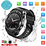 Smart Watch,Bluetooth Smartwatch Touch Screen Wrist Watch with Camera/SIM Card Slot,Waterproof Phone Smart Watch Sports Fitness Tracker for Android iPhone IOS Phones Samsung Huawei