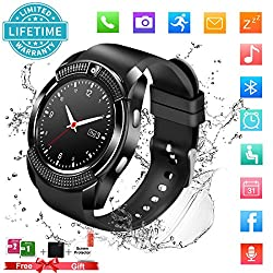 Smart Watch,bluetooth Smartwatch Touch Screen Wrist Watch With Camerasim Card Slot,waterproof Phone Smart Watch Sports Fitness Tracker For Android Iphone Ios Phones Samsung Huawei