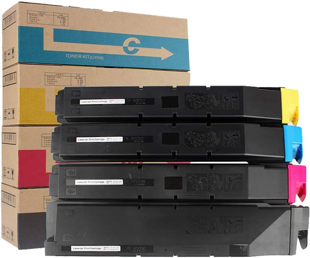 Compatible with Kyocera Taskalfa 3050ci 3550ci 3051ci 3551ci Copier Ink Cartridge HHRONG Suitable for Kyocera Tk-8308 Color Toner Cartridge 4colors Genuine Consumables-Yellow