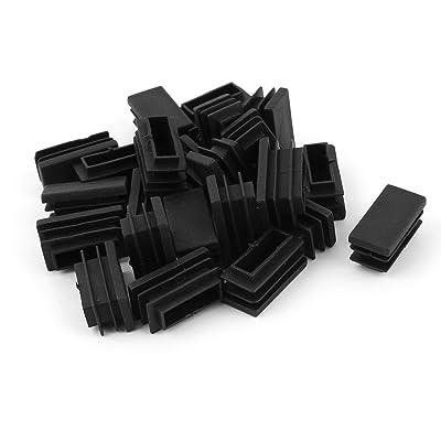15 mm x 30 mm-Tube pour plastique, de forme rectangulaire, bouchon obturateur de 24 pièces