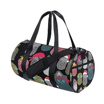 Amazon.com: Bolsa de viaje con diseño de búhos y pájaros ...