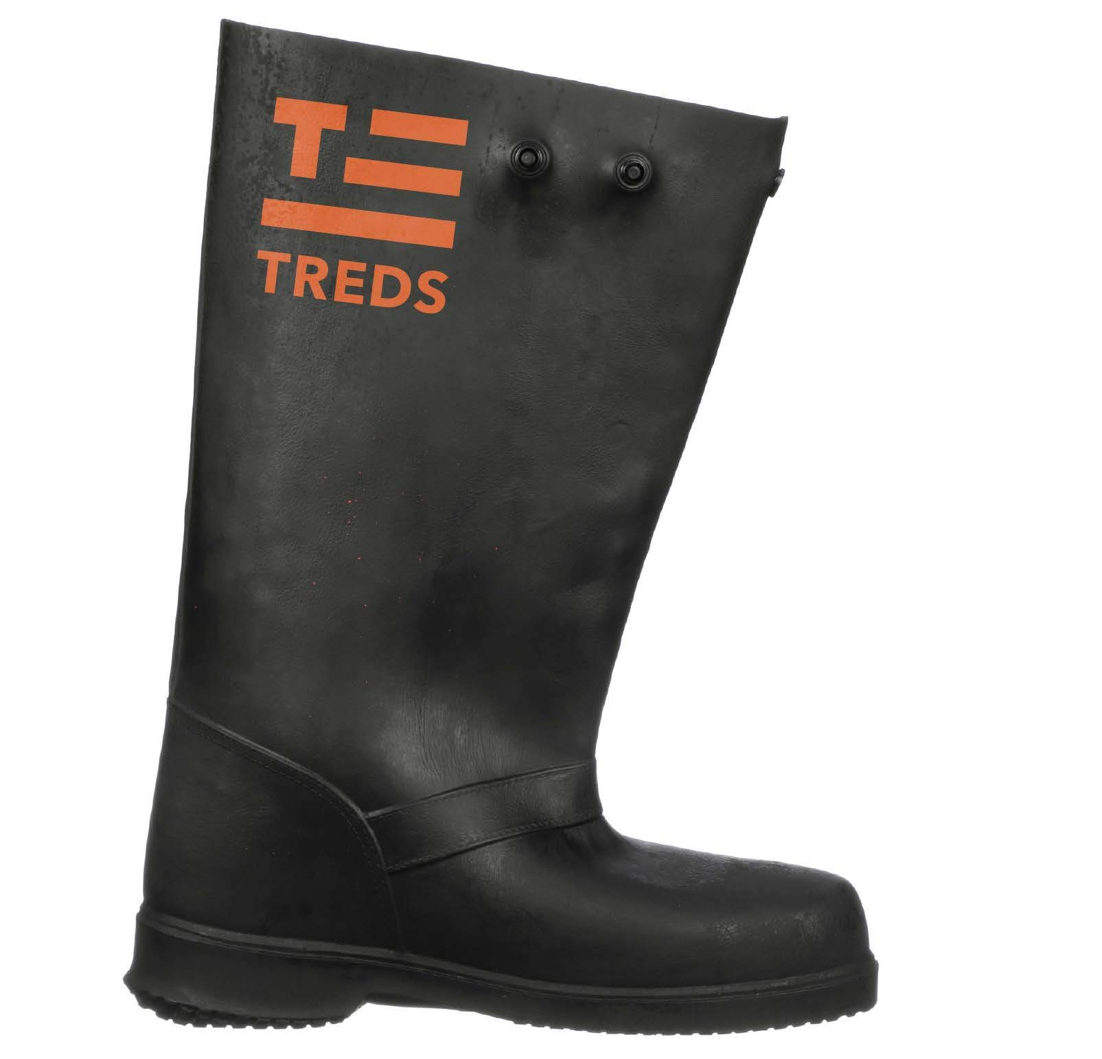 TREDS 13850 Super Tough 6 Stretch Rubber Pull-On Overshoes One Pair Small
