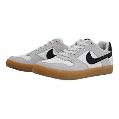 2faa014fb8 Amazon.com | Nike SB Delta Force Vulc Shoes Summit-White/Black-Gum 8 |  Skateboarding