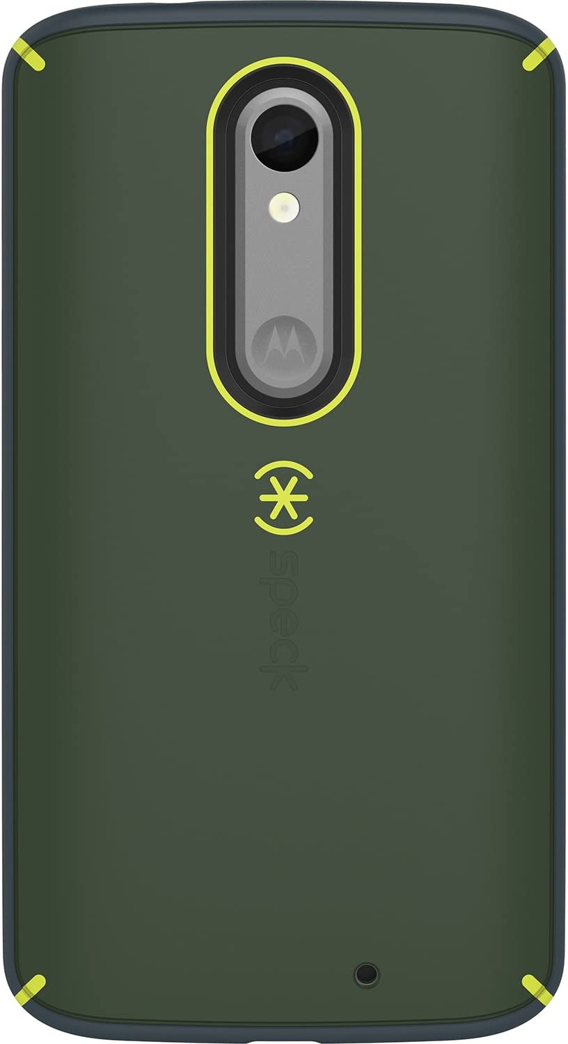 Speck Products Mighty Shell Cell Phone Case for Motorola Droid Turbo 2 - Retail Packaging - Charcoal Grey