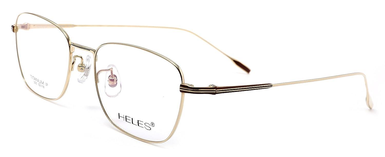 Amazon.com: heles Moda Unisex 100% puro tianium Full Rim ...