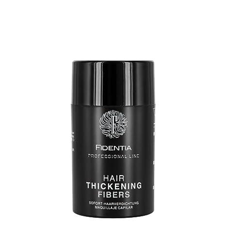 Fidentia Hair - Fibras Capilares para disimular la caída de cabello, 10g Castaño Medio -