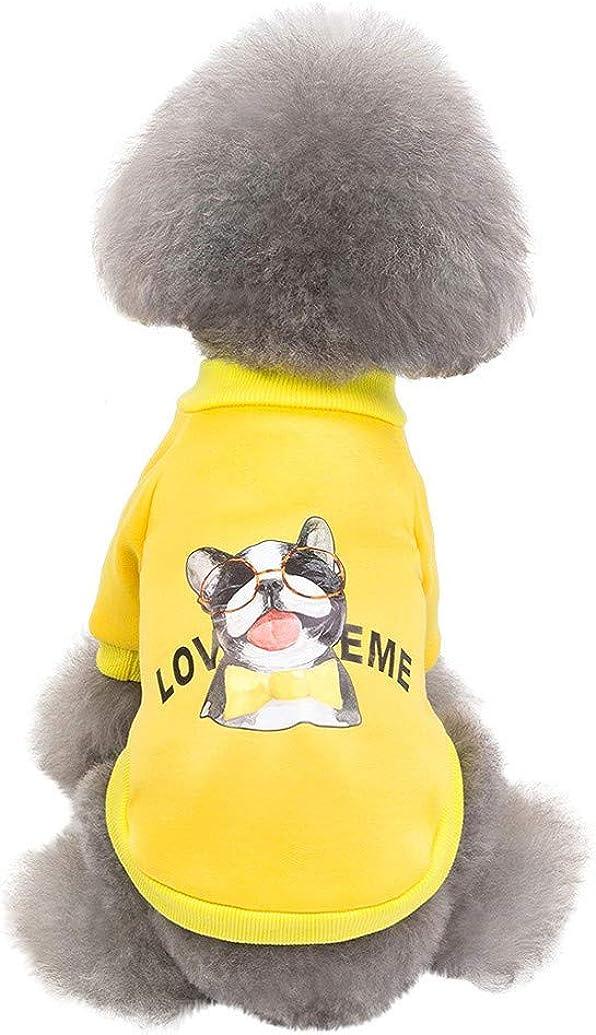 Hundebekleidung,TWBB Niedlicher Tierdruck Hundepullover Herbst Winter Haustier Mantel Katze Pulli Weiche Kleine Hunde Gem/ütlich Welpe Sweater Hundejacke F/ür Kleine Hunde