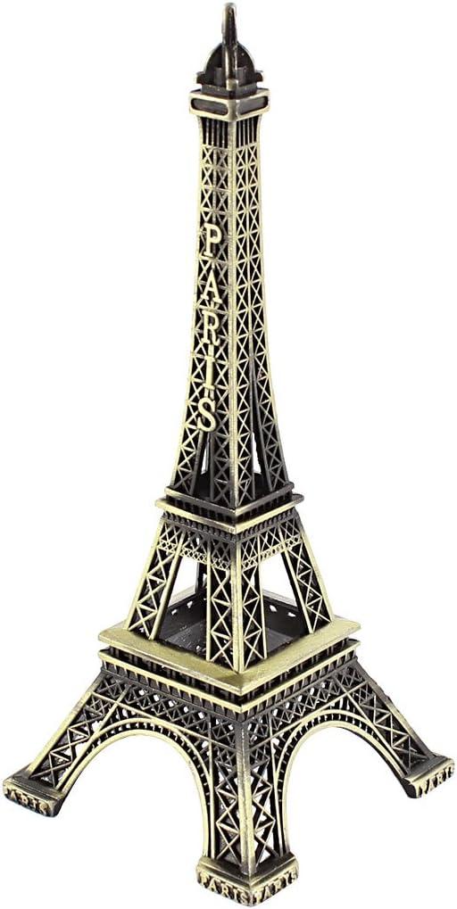 Francia Torre Eiffel miniatura modelo soporte del Metal Decoración de 15 cm de alto