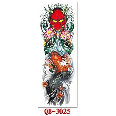 tzxdbh 5Pcs-Tattoo Stickers Impermeable Brazo Completo Tatuaje ...