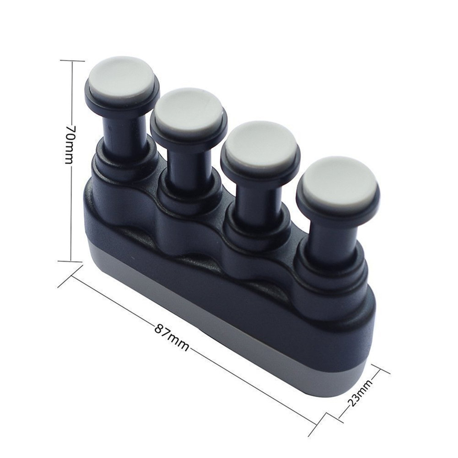 IVYRISE Finger Training Exercise Hand Wrist Strengthener Finger Grip Tension Adjustment Strength Training Equipment for Guitar, Piano, Golf, Tennis & Physical Therapy, Black by IVYRISE (Image #3)