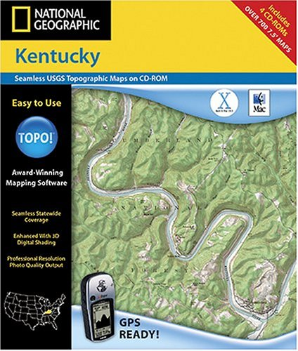 National Geographic TOPO! Kentucky Map CD-ROM (Mac)