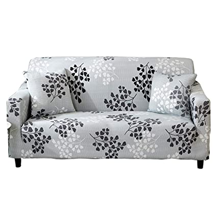 Astonishing Forcheer Stretch Sofa Slipcover Printed Pattern 2 Seat Spandex Couch Cover For 3 Cushion Couch 1 Piece Furniture Protector For Living Room Pets Dailytribune Chair Design For Home Dailytribuneorg