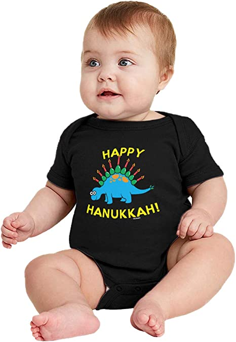 HAASE UNLIMITED Happy Hanukkah Dinosaur Menorah Kids Pajama Set