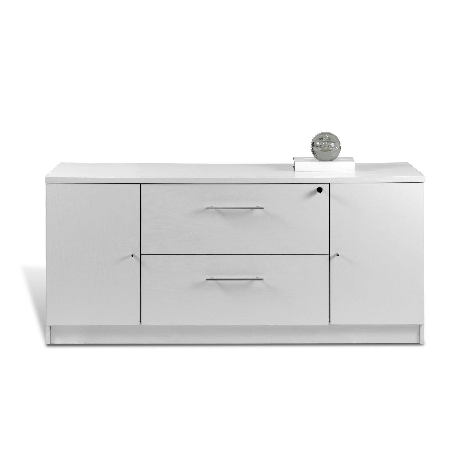 Unique Furniture 163202-WH Storage Credenza, White