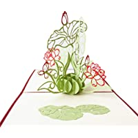 Sanwooden Greeting Card Sent to Bless 3D Pop Up Flower Greeting Card Thanksgiving Birthday Xmas Teachers' Day Gift Grateful to Have You.