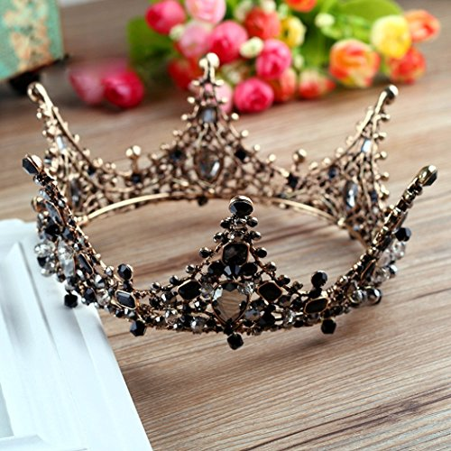 Jovono Bridal Wedding Crowns and Tiaras Baroco Queen Style for Women and Girls