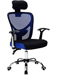 giantex executive office chair mesh high back home adjustable swivel ergonomic computer desk chair with headrest