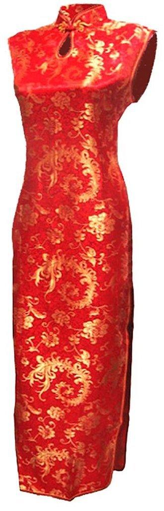 Shanghai Story Keyhole Qipao Long Chinese Traditional Dress Cheongsam 2 D Purple