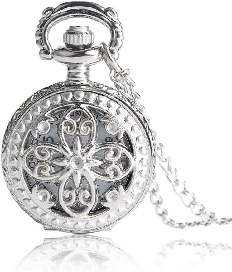 YXZQ Reloj de Bolsillo, Antiguo Vintage Mariposa Hueca Collar Largo Colgante Reloj de Cuarzo Mujer
